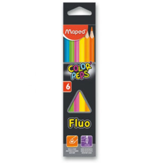 Pastelky Maped Color´Peps Fluo - 6 barev