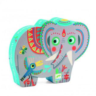 Puzzle - slon indický - 24 dílků
