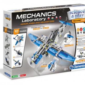 Mechanická laboratoř - Letadla a vrtulníky - 10 modelů - 200 dílků