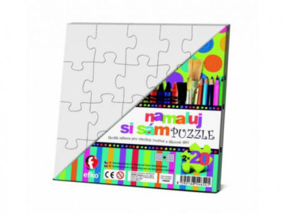 Namaluj si sám puzzle - 2 čtverce