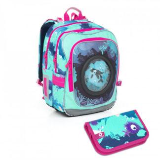 Školní batoh a penál Topgal  - CHI 790 D Blue + CHI 825 D