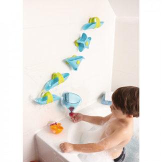 Kuličková dráha do vany s trychtýřem