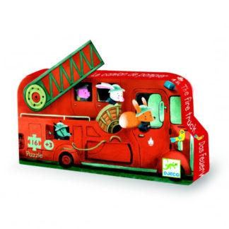 Puzzle - Hasičské auto - 16 ks