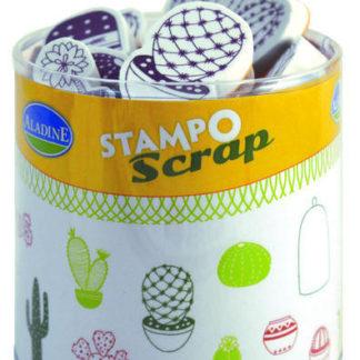 Stampo scrap - kaktusy - 23 ks