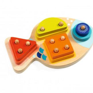 Jednoduché puzzle - spočítej kolíčky - 1