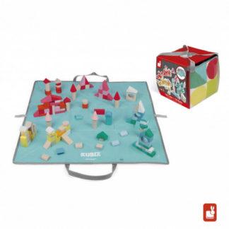 Kubix - kostky 80 ks + hrací podložka