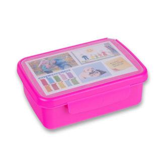 Svačinový box Zdravá sváča - růžový flou