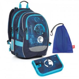 Školní set Topgal  - CHI 799 D Blue + CHI 813 +  pytlík na převůzky