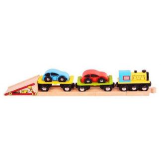 Bijigs - Nákladní vlak s auty a kolejí