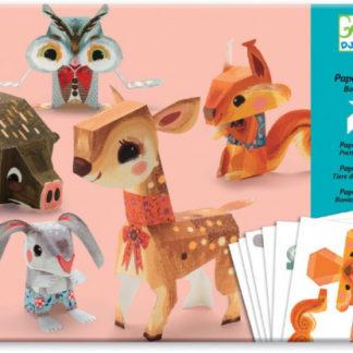 Origami Zvířátka z lesa - papírová skládačka