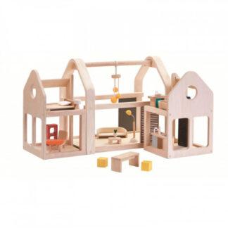 Přenosný domek pro panenky