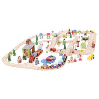Bigjigs Rail - Vláčkodráha s cestami