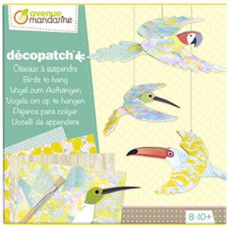 Velký kreativní box Decoupage ptáci