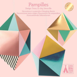 Závěsná papírová dekorace - Geometrické tvary