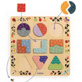 Puzzle - tvary a vzory