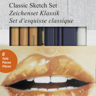 Umělecká sada Faber-Castell Classic GOLDFABER Sketch - 6ks