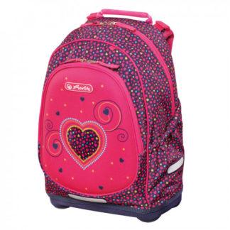 Školní batoh Herlitz Bliss - Růžové srdce