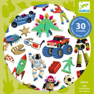 Samolepky - Retro hračky - 30 ks