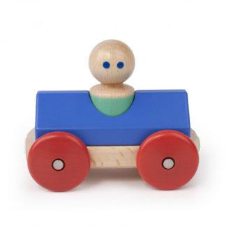 Magnetické autíčko TEGU - Blue & Poppy Racer