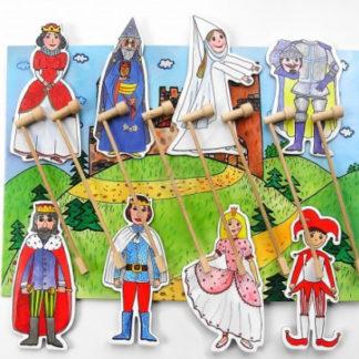 Marionetino - Loutková pohádka s tyčkami -  Královská sada I + II