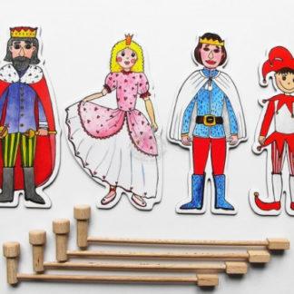 Marionetino - Loutkový balíček s tyčkami - Královská sada I
