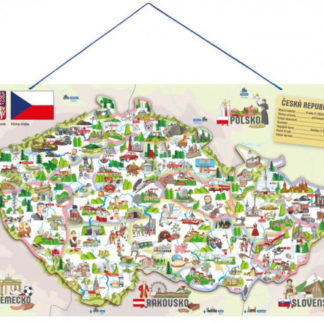 Magnetická mapa ČR s obrázky a společenská hra