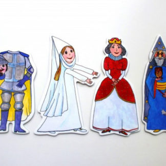 Marionetino - Loutkový balíček bez tyček - Královská sada II