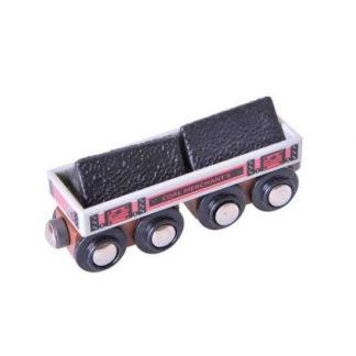 Bigjigs - Dlouhý vagónek s uhlím