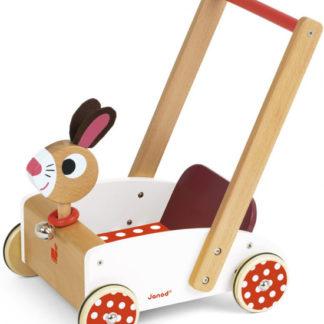 Dřevěný vozík - zajíc