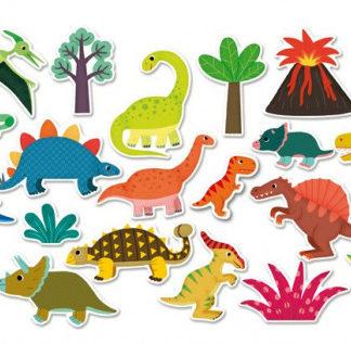 Dřevěné magnetky - Dinosauři 20 ks
