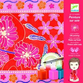 Kreativní sada - malování na hedvábí - Japonská zahrada