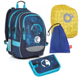Velký školní set Topgal  - CHI 799 D Blue + CHI 813 +  pytlík na převůzky+ pláštěnka