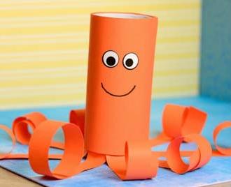 Zvířátko z papíru - chobotnice