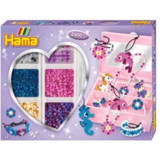 Hama Midi - dárková sada - šperkovnice - 2.400 ks