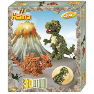Hama Midi - 3D dárková sada - Dino - 2500 ks
