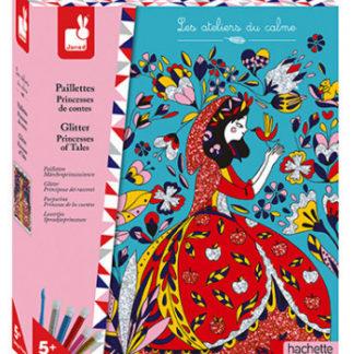 Dětský ateliér maxi - Princezny z pohádek - barevný písek a třpytky