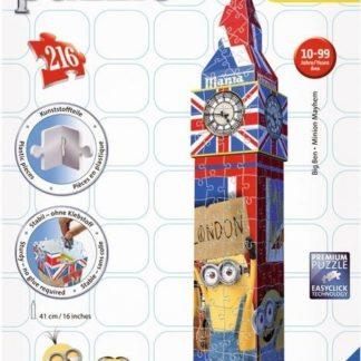 Puzzle Mimoňové 3D Big Ben 216 dílků