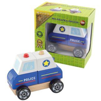 Policie skládací dřevěná