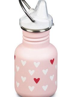 Dětská nerezová lahev Klean Kanteen Kid Classic w/Kid Sippy Cap - millennil hearts matte 355 ml