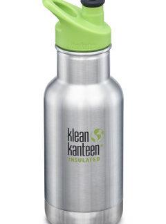 Dětská nerezová termolahev Klean Kanteen Insulated Kid Classic w/Kid Sport Cap 3.0 - brush stainless 355 ml