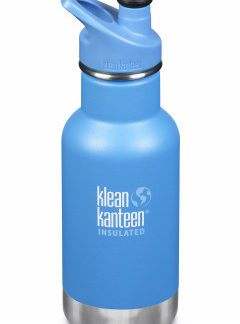 Dětská nerezová termolahev Klean Kanteen Insulated Kid Classic w/Kid Sport Cap 3.0 - pool party matte 355 ml
