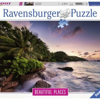 Puzzle Ostrov Praslin Seychelly 1000 dílků