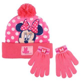 Sada čepice s bambulí + rukavice - Minnie