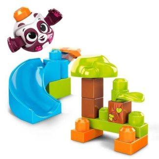 Mega Bloks Peek a Blocks velká skluzavka - lesní panda