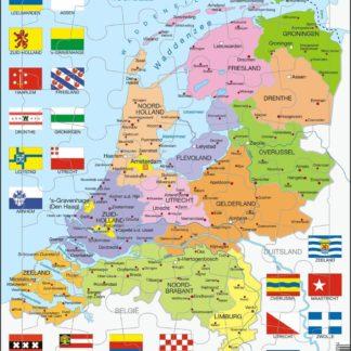 Puzzle Mapa Nizozemí - politická 48 dílků