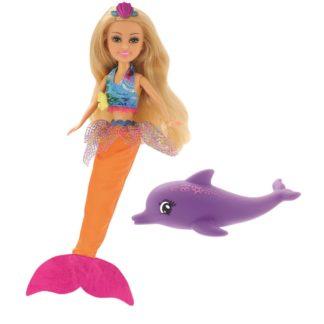 Mořská víla Sparkle Girlz s delfínem