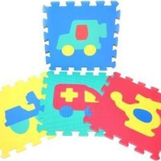 WIKY Měkké puzzle bloky dopravní prostředky 30 cm