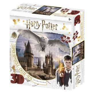 Puzzle 3D 300 dílků Harry Potter - Bradavice a Hedwig