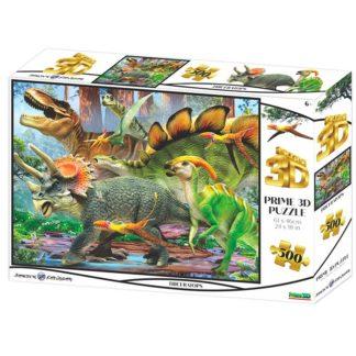Puzzle 3D Triceratops 500 dílků