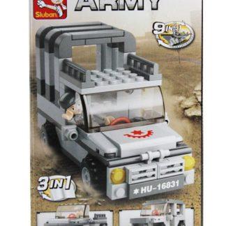 Stavebnice 3v1 - Jeep